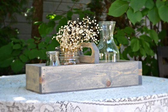 Rustic Wood CenterpieceWinter WeddingBread by MintageDesigns