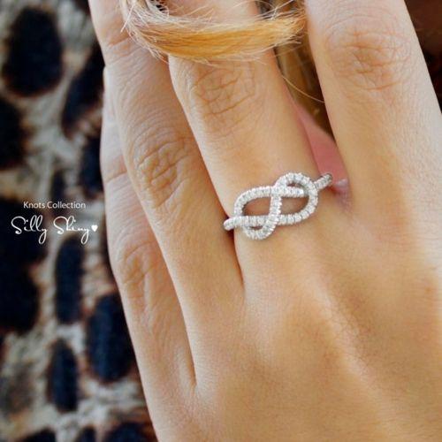 Infinity diamond ring.