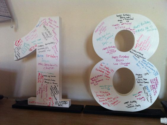 Signature Wooden Letters & Numbers - Party Guest Book Idea