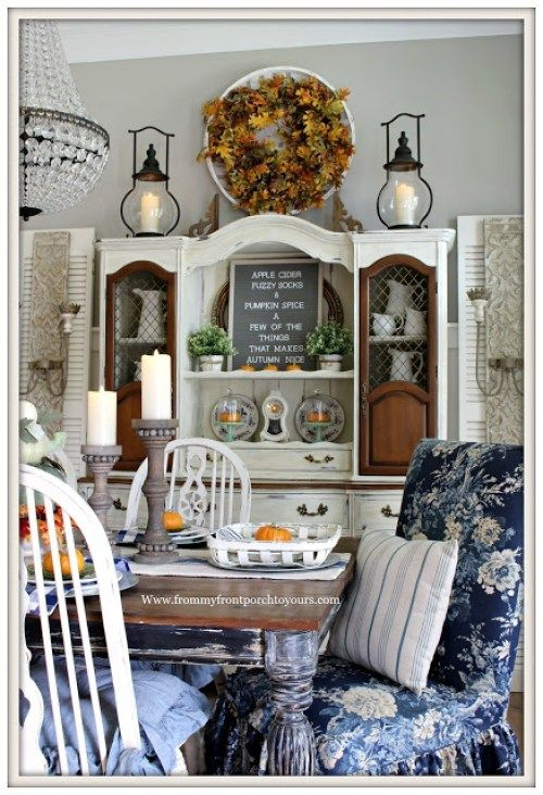 5 Fall Decorating Ideas Our Southern Home French Country Kitchens Fall Dining Room French Country Dining Room
