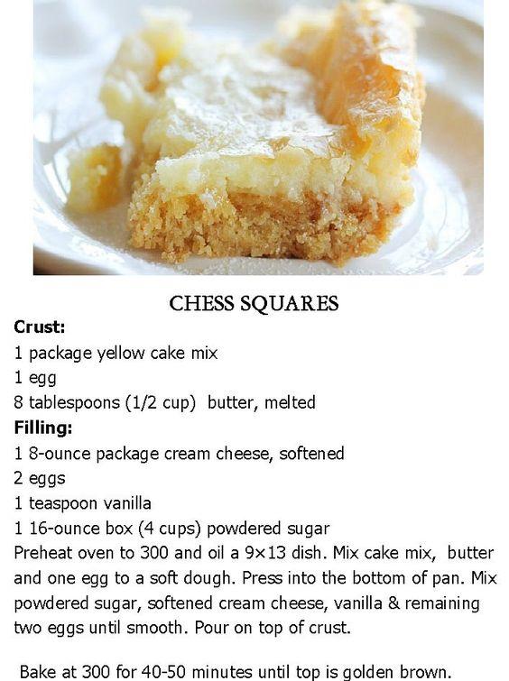 CHESS SQUARES .. My fav dessert..