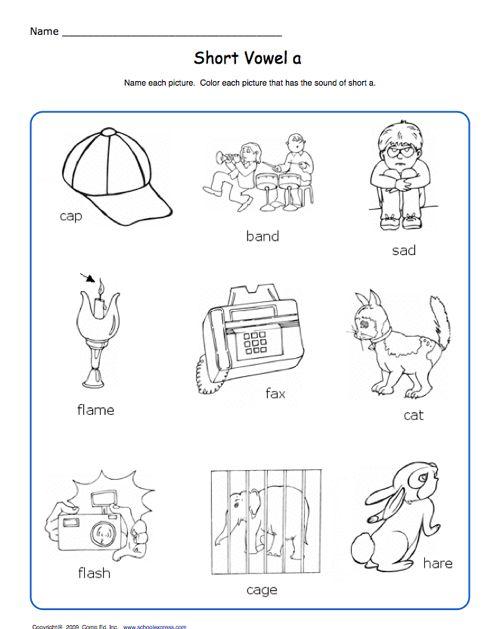 Number Names Worksheets short i sound worksheets : Free Phonics Worksheets Short Vowel Sounds - 1000 ideas about ...