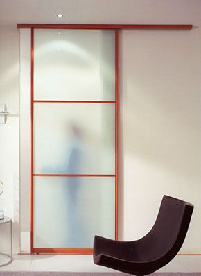 Shoji screen bathroom door idea will slide in front of for Pocket screens sliding doors