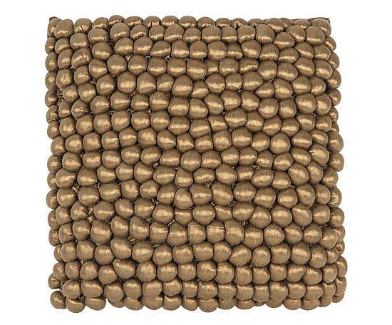 Kissen Sirocco, kupferfarben, 45 x 45 cm
