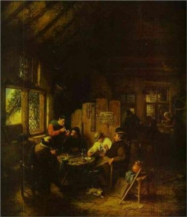 In the Village Inn by Adriaen van Ostade
