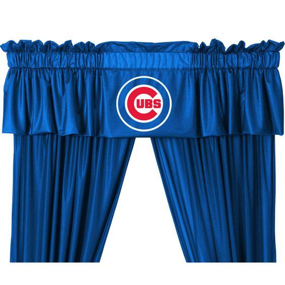 "MLB Chicago Cubs 88"" Curtain Valance"
