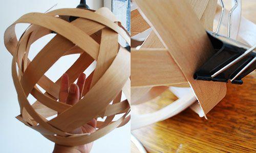 Poppytalk: DIY With Bookhou: Woven Lamp