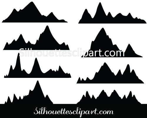Mountain Silhouette mountains silhouette vector | natural vector graphics | pinterest