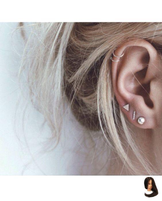 boucle d'oreille femme double