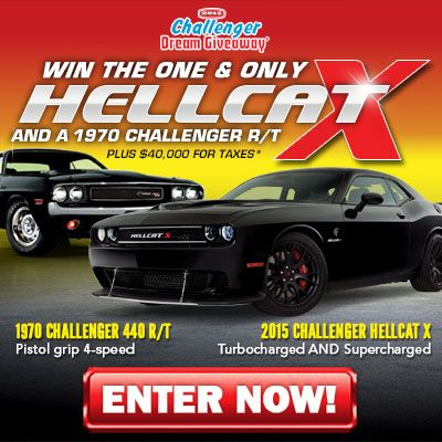 Donate to help homeless children and win two Dodge Challengers plus taxes*