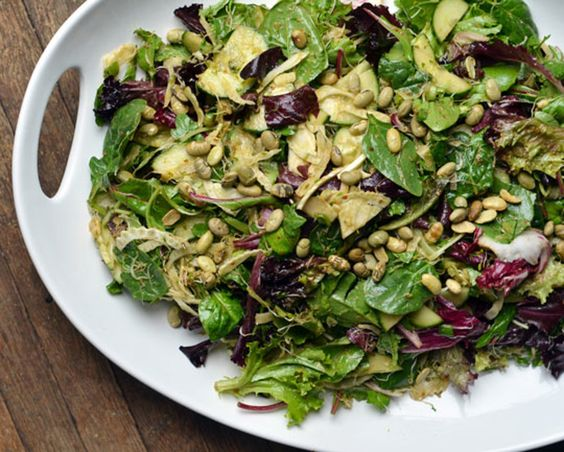 Recipe: Crisp Salad with Sprouts & Miso-Lemon Dressing