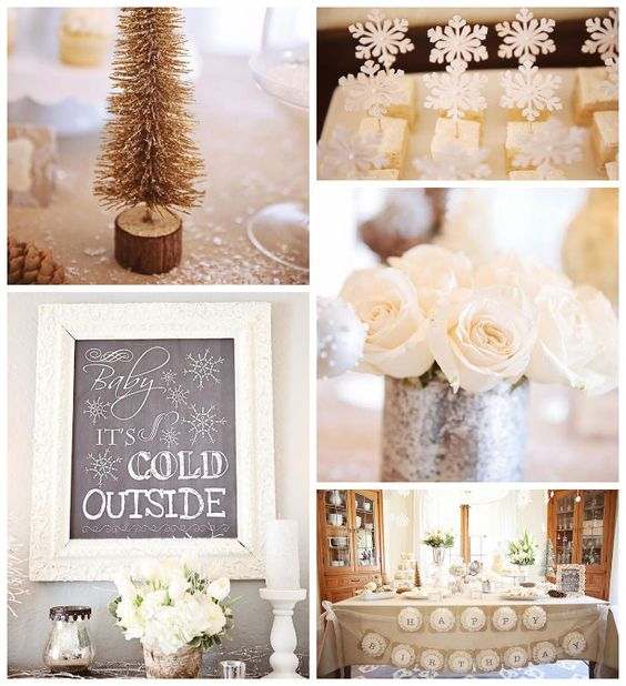 Baby It's Cold Outside Themed Winter Wonderland Twin Birthday Party with Lots of Really Cute Ideas via Kara's Party Ideas | KarasPartyIdeas....