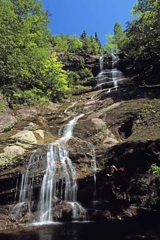 The Beulach Ban Falls situated along the Cabot Trail in the Cape Breton Highlands National Park, Nova Scotia, Canada