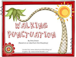 The Primary Porch: WALKING PUNCTUATION...and a Plan to Prove We Are NOT robots