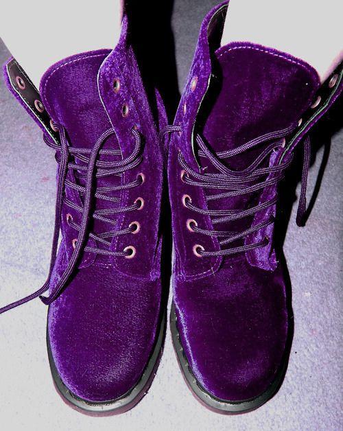 purple velvet dr. martens noice. OMG OMG OMG OMG OMG!!!!!!!!!!!!!!!!!!!!!!!!!!!!!!!!!!!!!!!