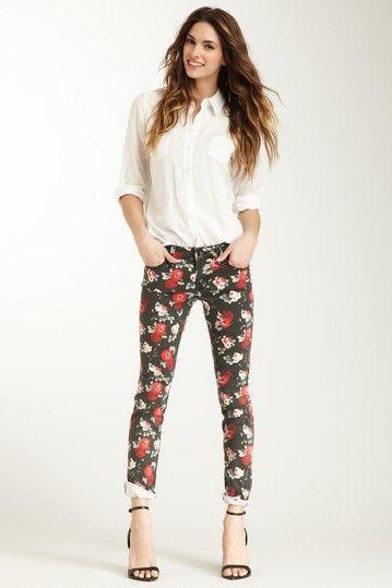 Liza Skinny Floral Jean on HauteLook