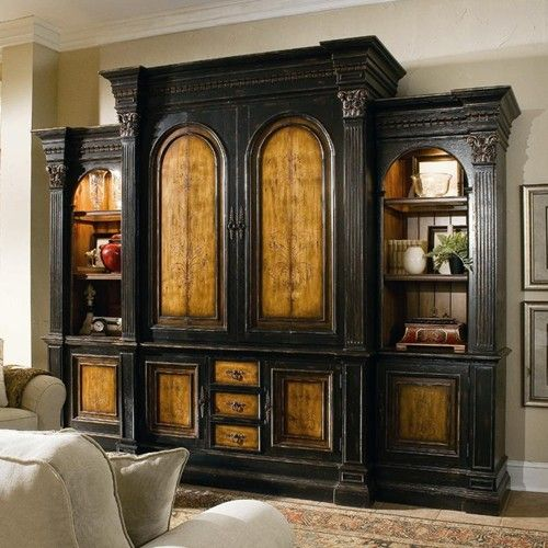 North Hampton Entertainment Wall Unit With Pocket Door Hutch By Hooker Furniture Baer 39 S