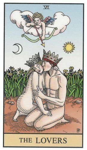 Tarot Alquímico - Los amantes #tarotcards