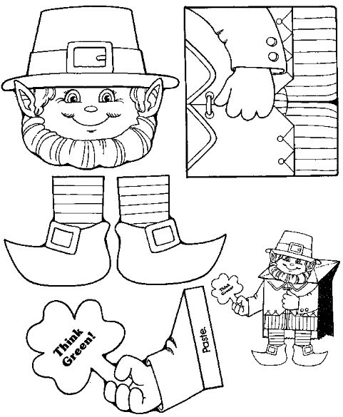 Leprechaun bag puppet free printable available at just 4 for Tiger puppet template