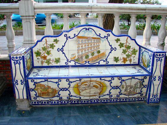 Park bench in Malaga