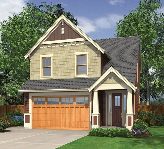 Spacious Craftsman Home Plan - 69031AM | Cottage, Craftsman, Northwest, Shingle, Narrow Lot, 2nd Floor Master Suite, CAD Available, PDF | Architectural Designs