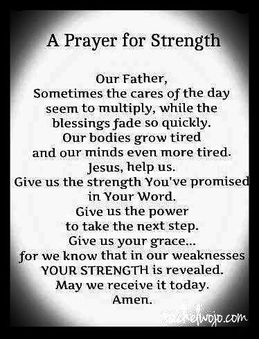Prayer for Strength: