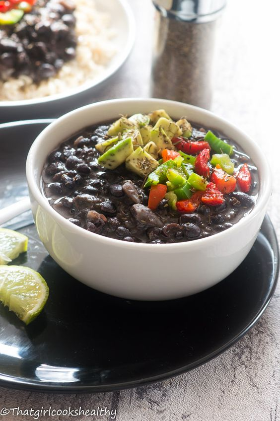 Cuban black beans (Frijoles negros) | Mostly Vegan | Pinterest | Black ...
