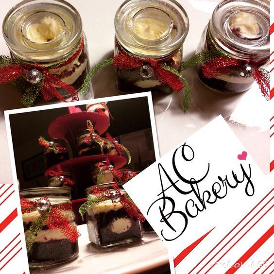 Red Velvet CakeJars for Christmas presents.