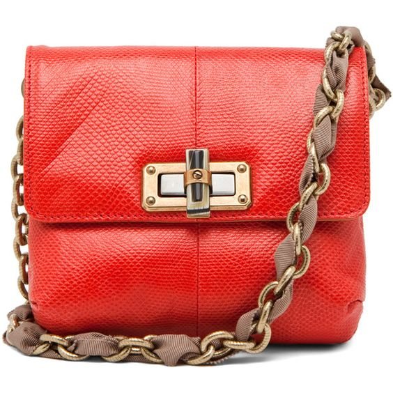 Lanvin Mini Pop in Red Snake found on Polyvore