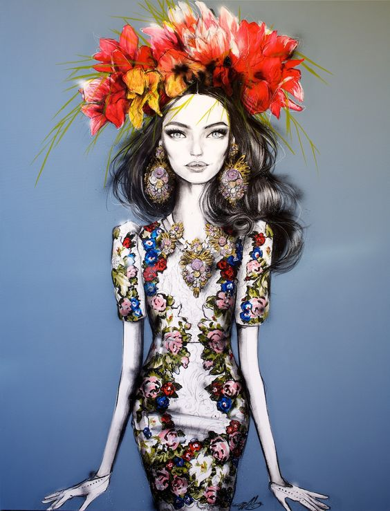'Blue Bella Bianca' by Pippa McManus, 2014. www.facebook.com/... COPYRIGHT © of Pippa McManus