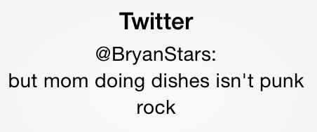 Doing dishes is not punk rock lol!