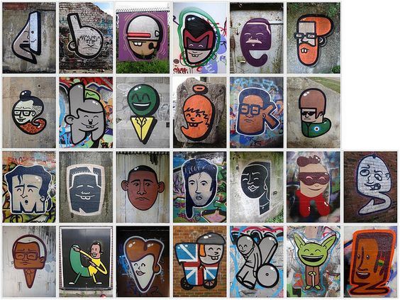 Graffiti Characters Alphabet by mr_la_rue, via Flickr