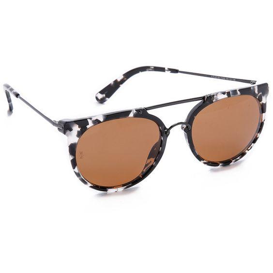 Wonderland Stateline Sunglasses ($200) found on Polyvore featuring women's fashion, accessories, eyewear, sunglasses, polarized sunglasses, round sunglasses, round frame sunglasses and round frame glasses: