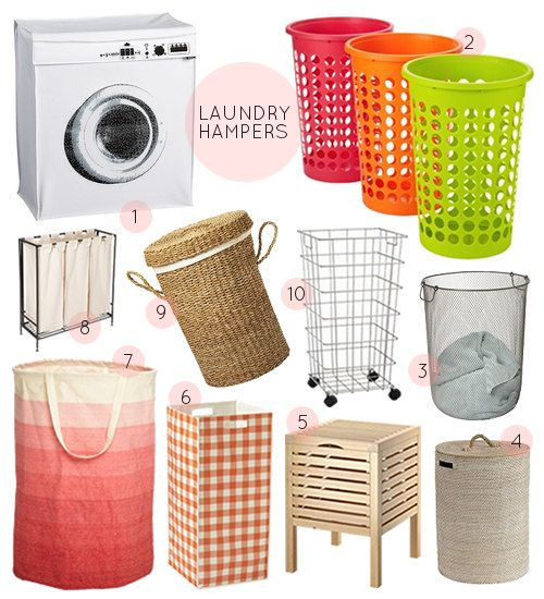 Laundry hamper bathroom organization and hampers on pinterest for Small bathroom hamper