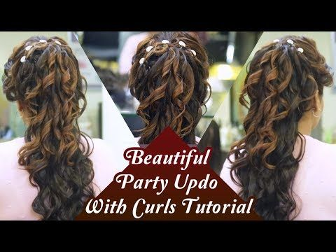 Party Updo With Curls Tutorial Step By Step Hair Updo Tutorial Party Hairstyles Khoobsurat Youtub Hair Styles Easy Updo Hairstyles Hair Updos Tutorials