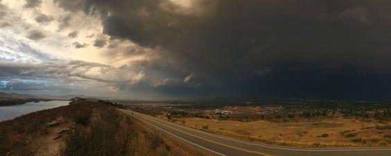 Thunderstorm Darkens Skies Over Ft Collins