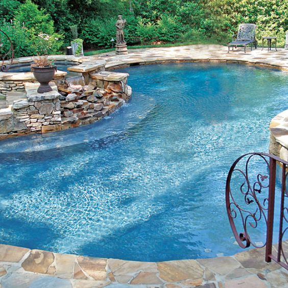 A very serene pool. I can visualize swimming here.