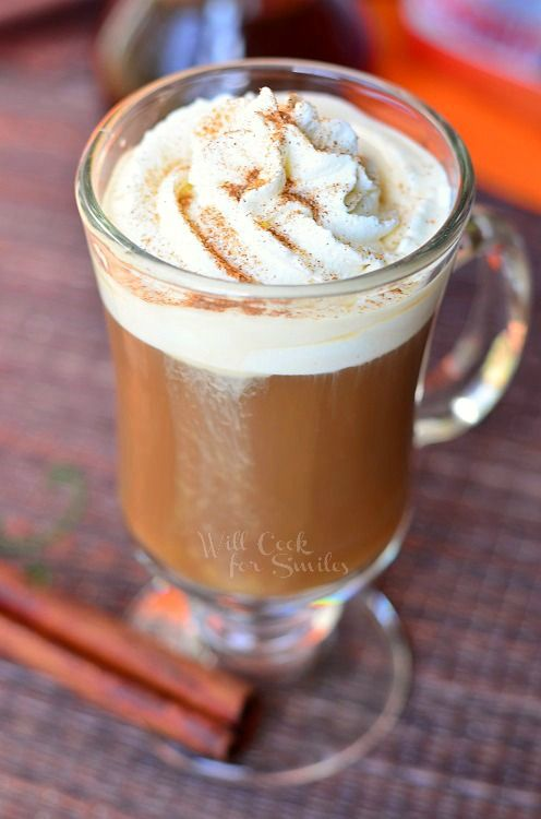 Cinnamon Dolce Coffee Drink   © willcookforsmiles.com #cinnamon #latte #coffee