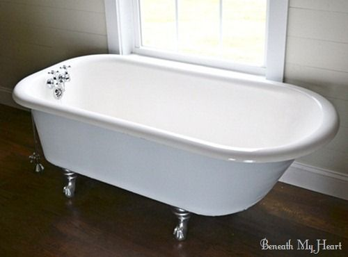 how to refinish an antique claw foot tub check out my new tub the old clawfoot tubs and will. Black Bedroom Furniture Sets. Home Design Ideas