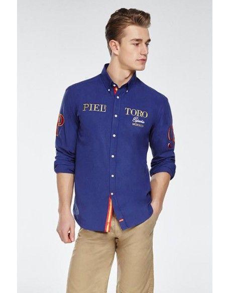 Camisa hombre bordados