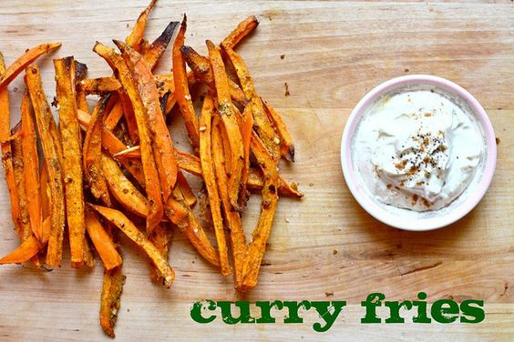 Baked Curry Sweet Potato Fries: