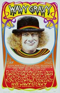 Seva benefit concert featuring Jerry Garcia, John Kahn, Mickey Hart, Bob Weir, Ken Kesey, Paul Krassner and Wavy Gravy - Berkeley Community Theater, May 15 1986.: