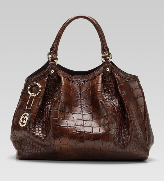 Gucci - Sukey large tote, chocolate crocodile | bags | Pinterest ...