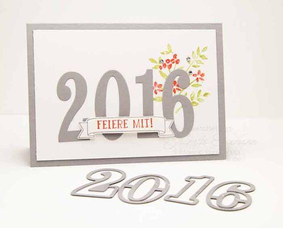 Stampin´ Up! Neujahrskarten mit dem Stempelset So viele Jahre und den Framelits Große Zahlen für die Big Shot