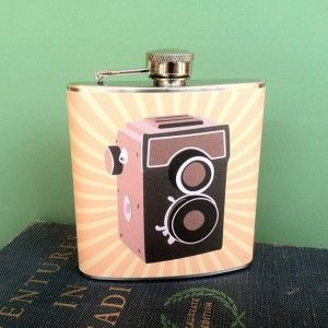 Whimsy and ink vintage camera flask