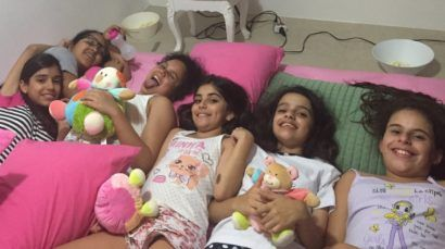 festa de pijama infantil meninas