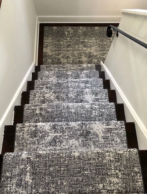 Carpet Time S Latest Custom Stair Installation For Our Clients In Yonkers Ny Featuring Stanton Carpet S Wool Stair Runner Stair Runner Carpet Carpet Stairs