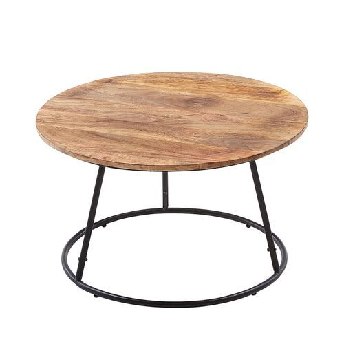 Centric Natural Black Wood Round Coffee Table With Images