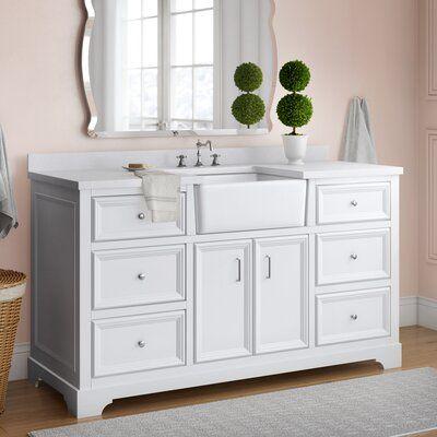 Charlton Home Heath 60 Single Bathroom Vanity Set Wayfair In 2020 Single Bathroom Vanity Bathroom Vanity 60 Inch Vanity
