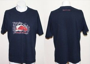 Genuine Animal T shirt Size L 100% Cotton Dark Blue Colour Sports Logo Athletic Price £4.99